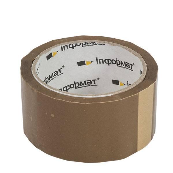 Лента упаковочная inФОРМАТ 50 мм х 66 м, 40 мкм коричневая