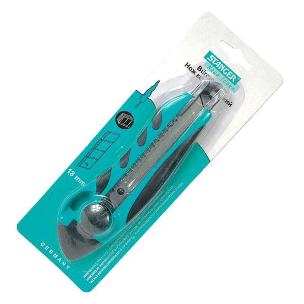 Нож канцелярский STANGER 18 мм усиленный комбинированный