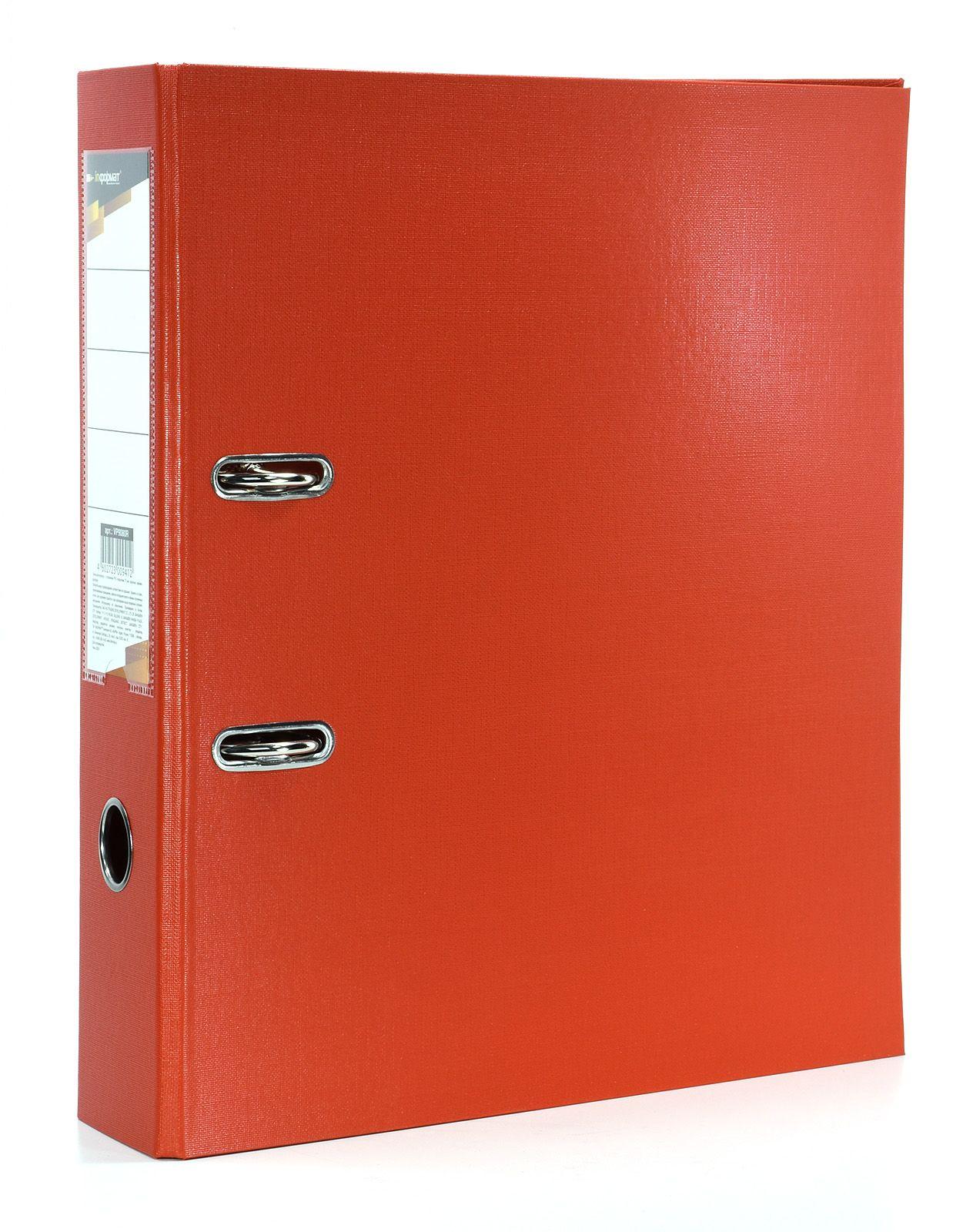 Папка-регистратор INFORMAT 75 мм одностороннее покрытие PVC, красная