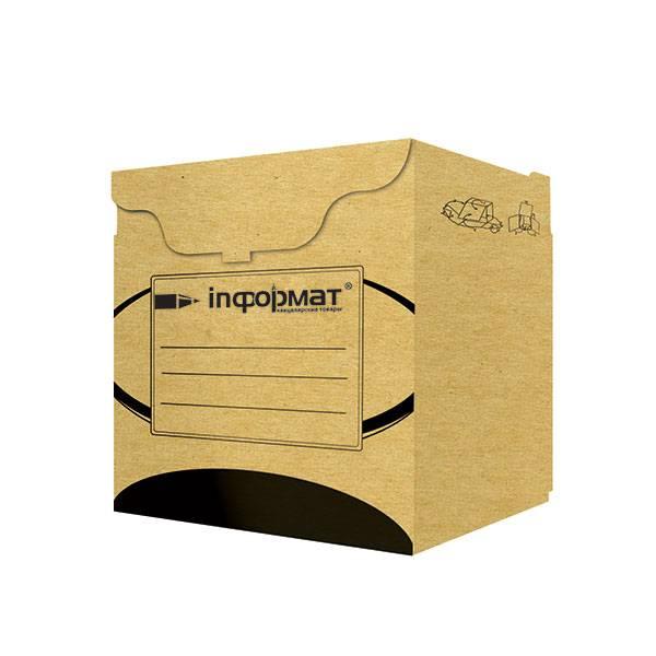 Короб архивный inФОРМАТ 330х310х340 мм бурый картон, разобран