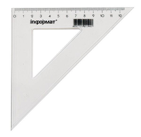 Треугольник 45° 14 см, пластик