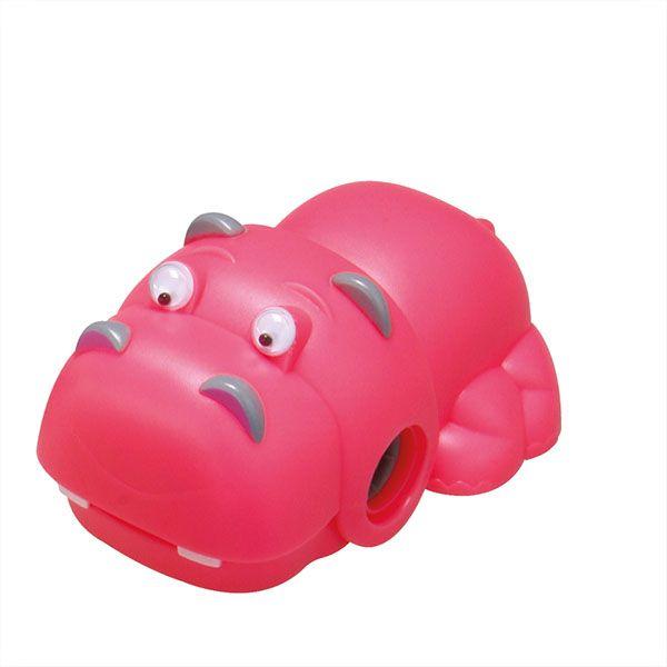 Точилка Schoolformat ГИППО с контейнером пластиковый корпус розовая