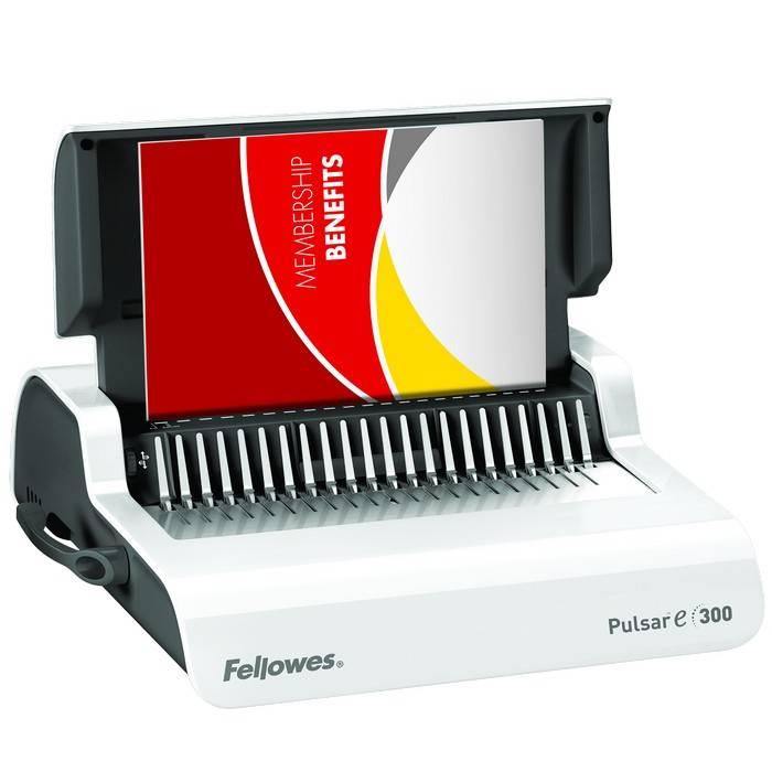 Брошюратор А4, FELLOWES PULSAR, перфорация, 20 листов, сшивание 300 листов