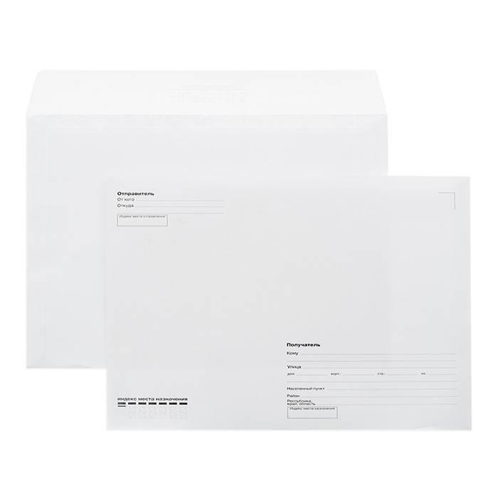 Конверт почтовый С4 (229х324) КУДА-КОМУ декстрин