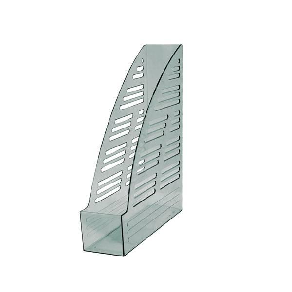 Лоток вертикальный inФОРМАТ ширина 70 мм, прозрачно-дымчатый пластик