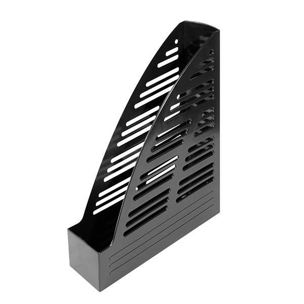 Лоток вертикальный inФОРМАТ ширина 70 мм, черный пластик