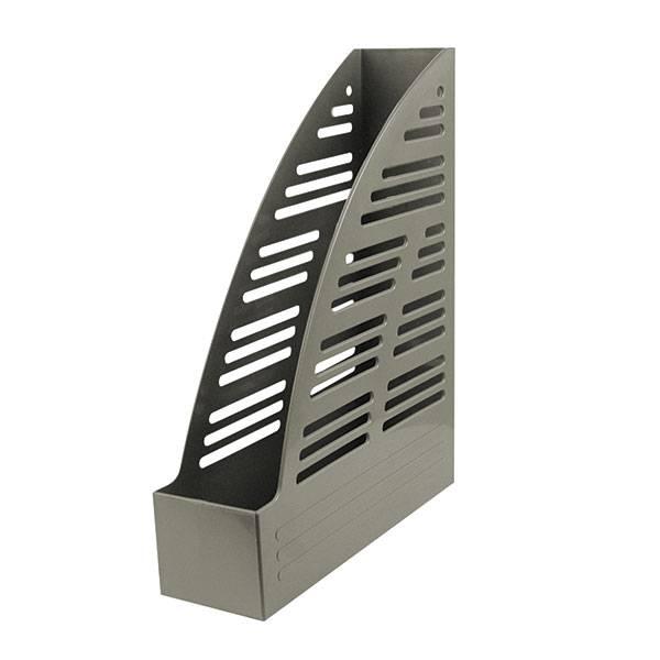 Лоток вертикальный inФОРМАТ ширина 70 мм, серый пластик