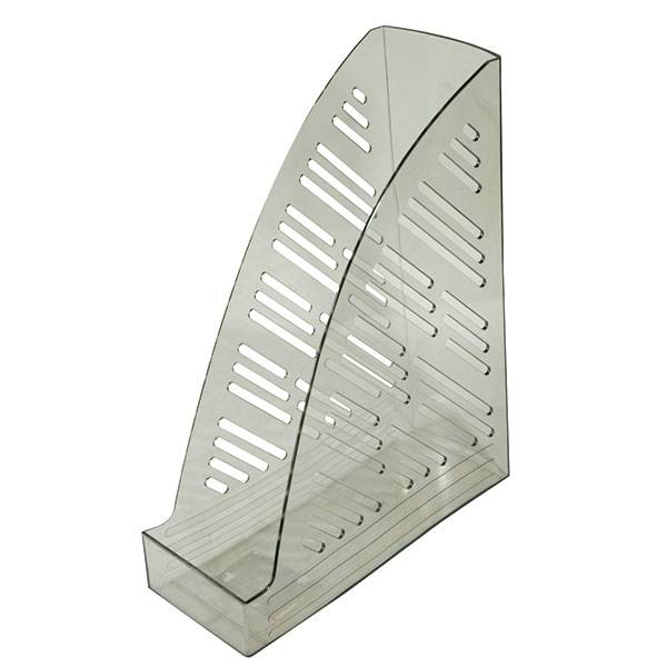 Лоток вертикальный inФОРМАТ ширина 85 мм, прозрачно-дымчатый пластик