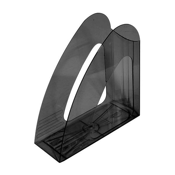 Лоток вертикальный inФОРМАТ ширина 90 мм, прозрачно-дымчатый пластик