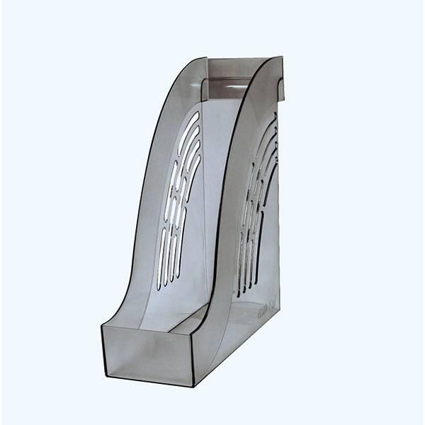 Лоток вертикальный inФОРМАТ ширина 95 мм, прозрачно-дымчатый пластик
