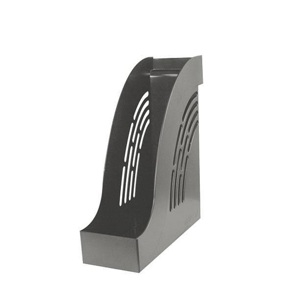 Лоток вертикальный inФОРМАТ ширина 95 мм, серый пластик