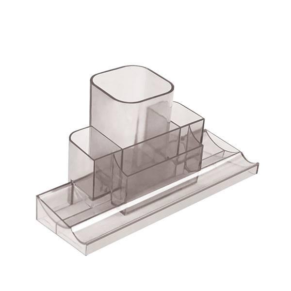 Подставка настольная inФОРМАТ 22х12х12 см, дымчатый пластик