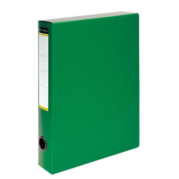 Короб архивный inФОРМАТ 56 мм А4, зеленый, пластик, собран