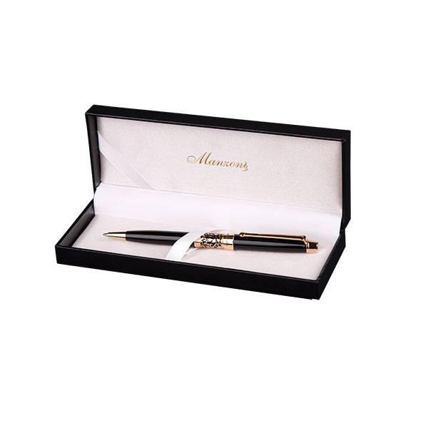Шариковая ручка Manzoni Venezia, черная, в футляре