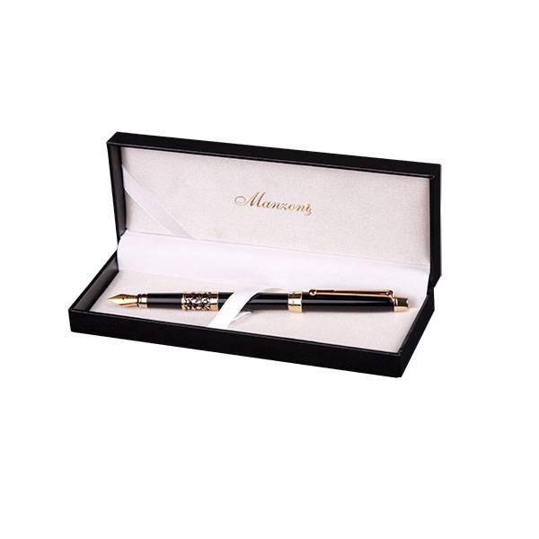 Перьевая ручка Manzoni Venezia, черная, в футляре