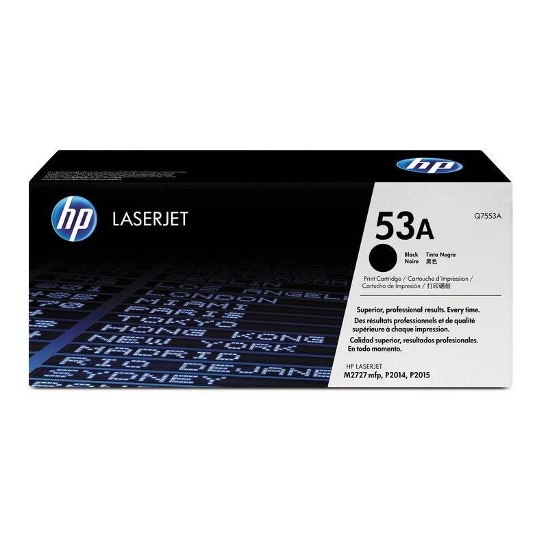 Картридж лазерный HP 53A для LJ P2014/P2015/M2727mfp черный, 3000 страниц