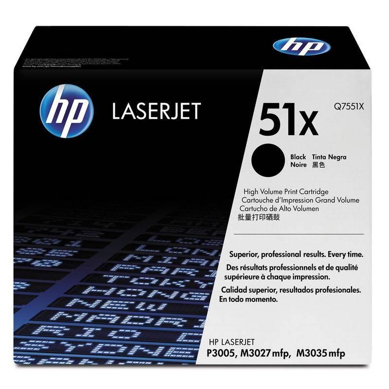 Картридж лазерный HP 51X для LJ P3005/M3027mfp/M3035mfp черный, 13 000 страниц