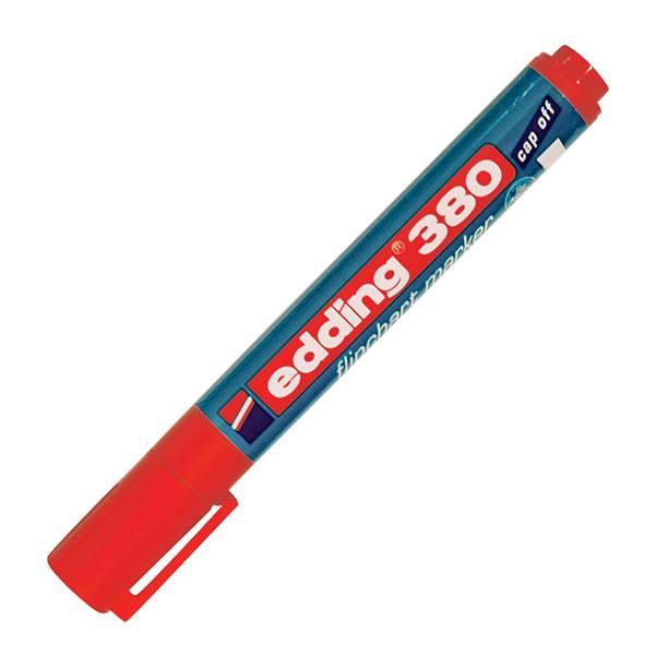 Маркер для флипчартов EDDING FLIPCHART 380 1,5-3 мм красный круглый