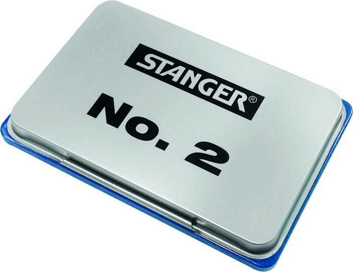 Подушка штемпельная Stanger 70х110 мм, синяя металл