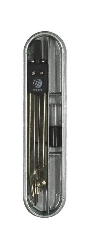 Набор чертежный ГЛОБУС ЮНИОР 125 мм, 2 предмета в пластиковом пенале