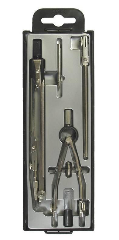 Набор чертежный ГЛОБУС ТЕХНИКА 155 мм, 5 предметов в пластиковом пенале