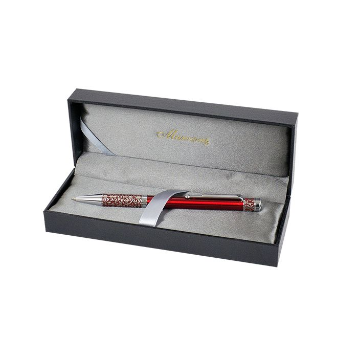 Шариковая ручка Manzoni Marinella, красная, в футляре