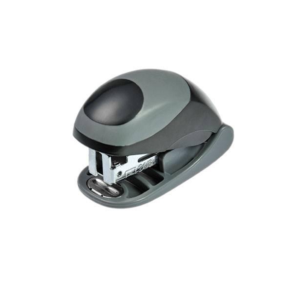 Степлер мини EAGLE ОМАХ №24/6 до 15 листов, пластик, серо-черный