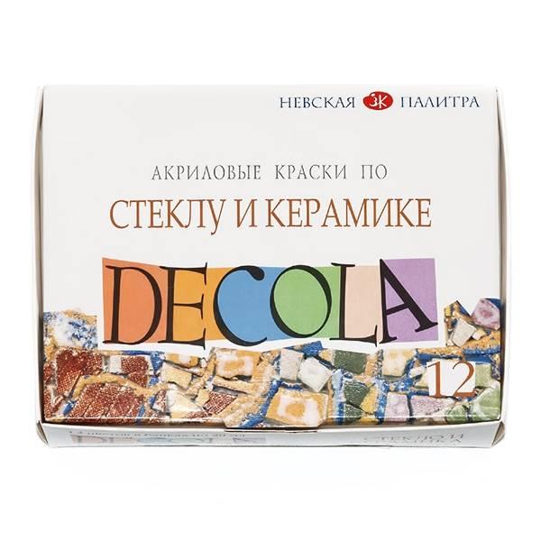 Краски DEСOLA для стекла и керамики 12 цветов