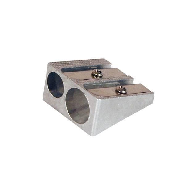 Точилка двойная inФОРМАТ МЕТАЛЛ металлический корпус серебр.