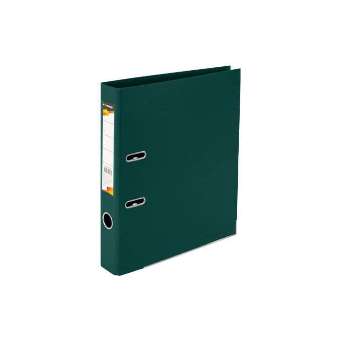 Папка-регистратор INFORMAT 55 мм двухстороннее покрытие PVC, темно-зеленая