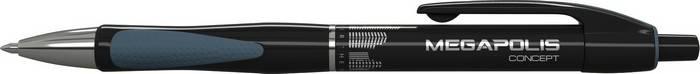 Ручка шариковая автоматическая MEGAPOLIS CONCEPT 0,7 мм черная резиновый грип