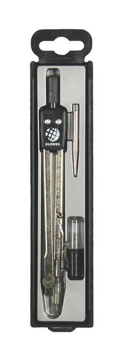 Набор чертежный ГЛОБУС СТУДЕНТ 135 мм, 3 предмета в пластиковом пенале