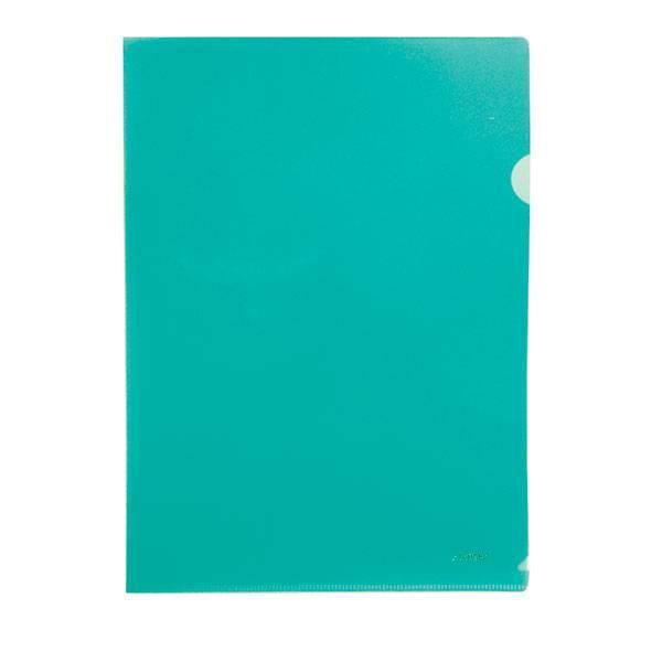 Папка-уголок STANGER А4 прозрачный пластик 200 мкм, зеленая
