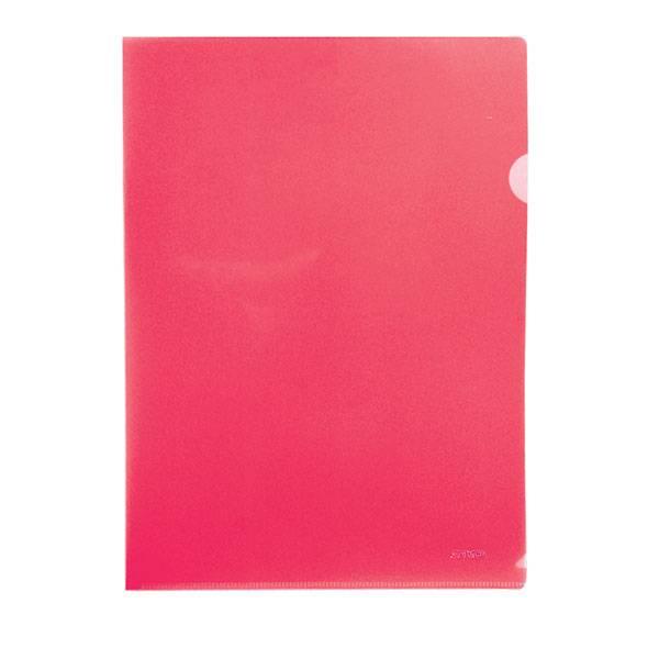 Папка-уголок STANGER А4, прозрачный пластик 200 мкм, красная