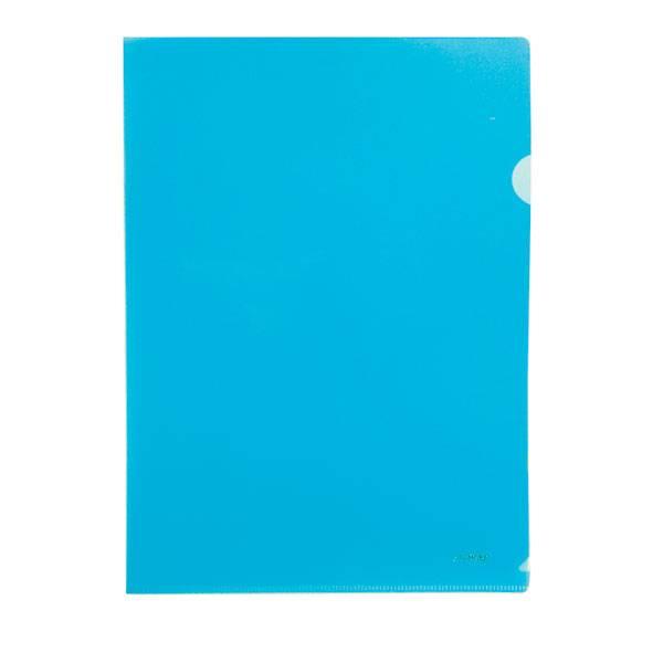 Папка-уголок STANGER А4, прозрачный пластик 200 мкм, синяя