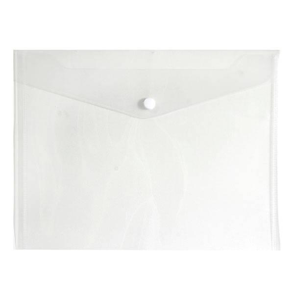 Пластиковый конверт inФОРМАТ А5+, на кнопке, прозрачный 180 мкм