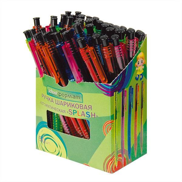 Ручка шариковая автоматическая SPLASH 0,77 мм синяя цветной корпус в ассортименте