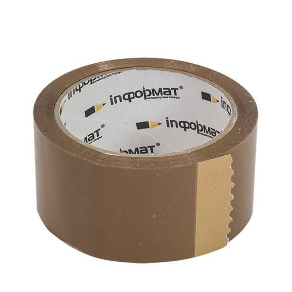 Лента упаковочная inФОРМАТ 48 мм х 57 м, 45 мкм коричневая