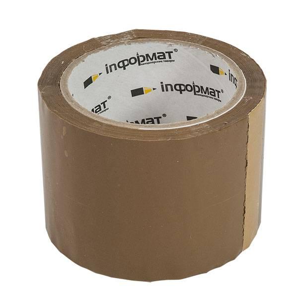 Лента упаковочная inФОРМАТ 72 мм х 57 м, 45 мкм коричневая