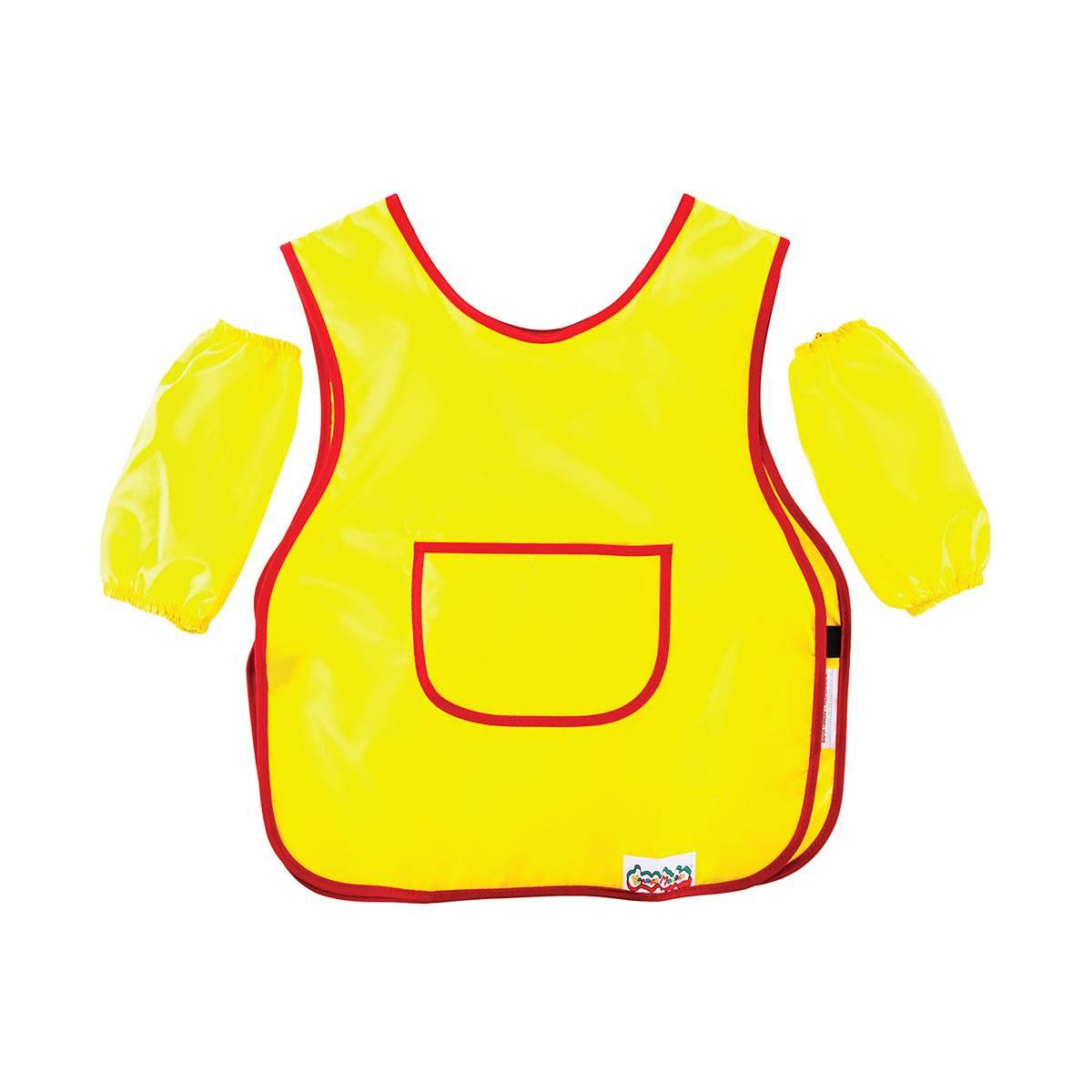 Фартук для труда с нарукавниками Каляка-Маляка, ткань, желтый. 3-5 лет