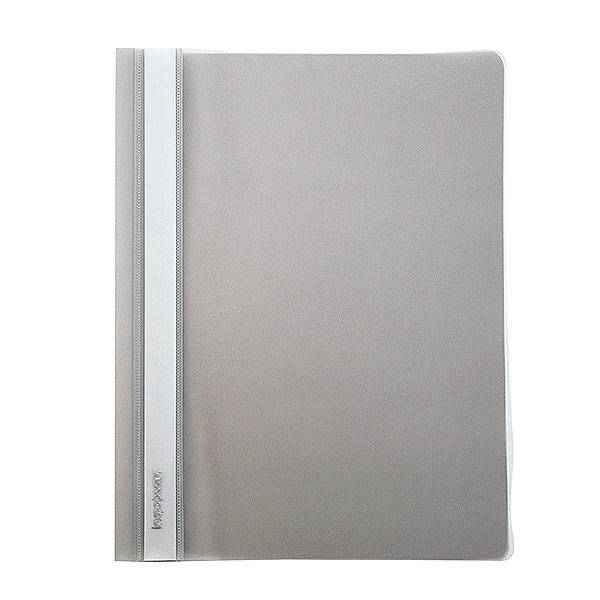 Папка-скоросшиватель inФОРМАТ А4, серыая, пластик 180 мкм, карман для маркировки