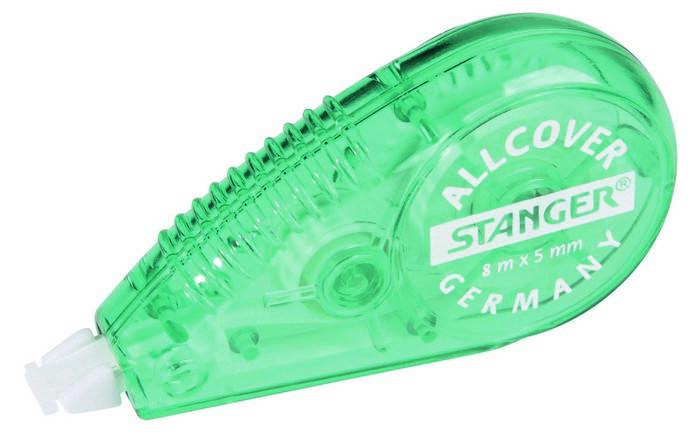 Корректирующая лента-роллер STANGER All СOVER 5мм х 8м зелёный корпус