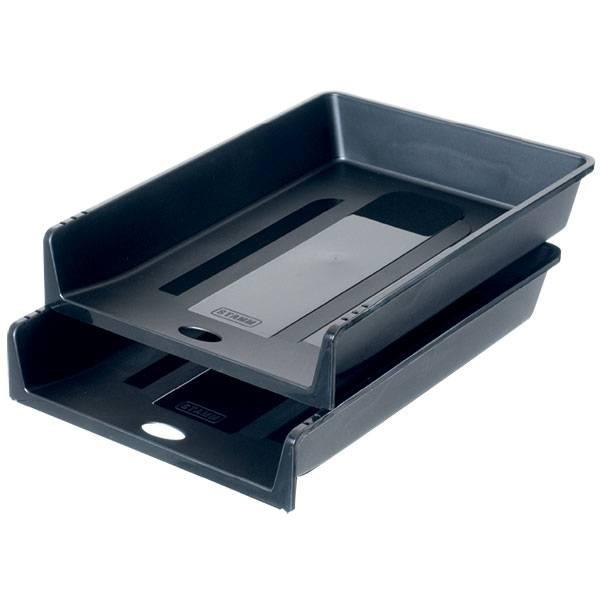 Лоток горизонтальный СТАММ 1 В 1 черный пластик
