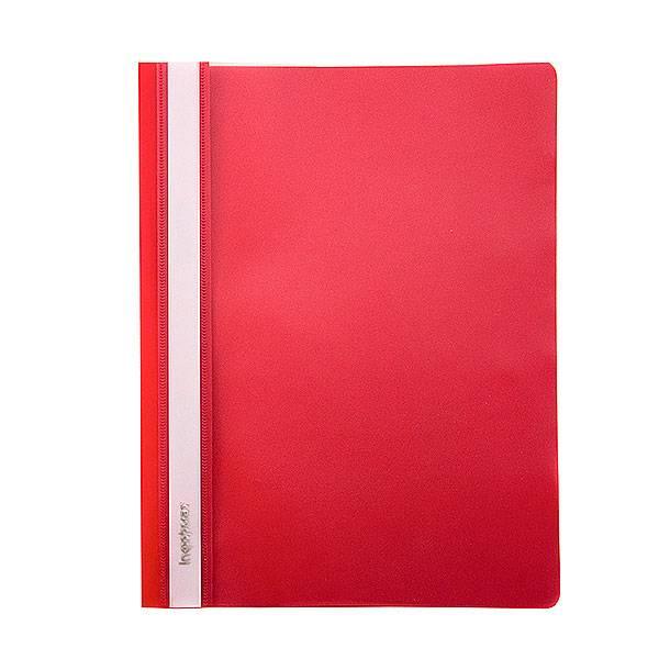 Папка-скоросшиватель inФОРМАТ А5, красная, пластик 180 мкм, карман для маркировки