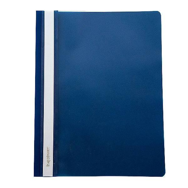 Папка-скоросшиватель inФОРМАТ А5, синяя, пластик 180 мкм, карман для маркировки