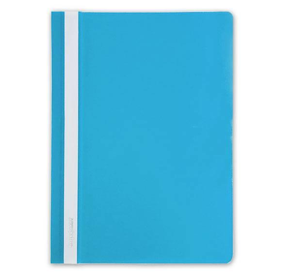 Папка-скоросшиватель inФОРМАТ А4, голубая, пластик 150 мкм, карман для маркировки