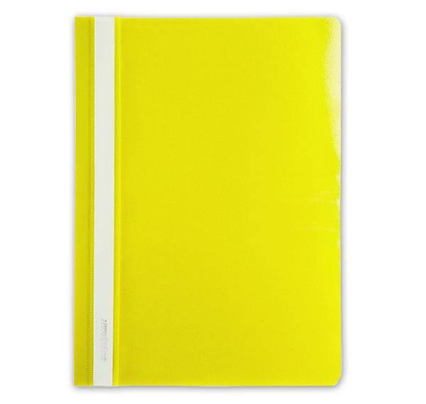 Папка-скоросшиватель inФОРМАТ А4, желтая, пластик 150 мкм, карман для маркировки
