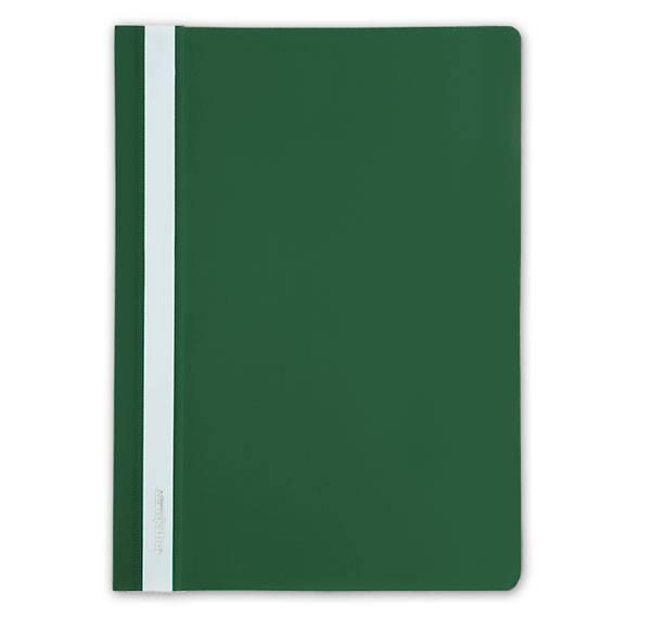 Папка-скоросшиватель inФОРМАТ А4, зеленая, пластик 150 мкм, карман для маркировки