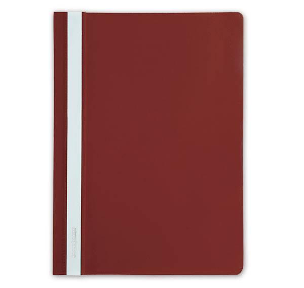 Папка-скоросшиватель inФОРМАТ А4, красная, пластик 150 мкм, карман для маркировки