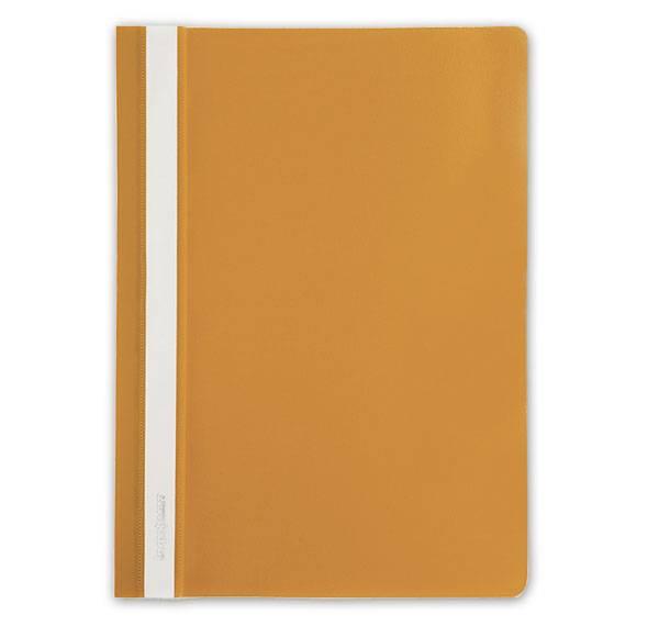 Папка-скоросшиватель inФОРМАТ А4, оранжевая, пластик 180 мкм, карман для маркировки